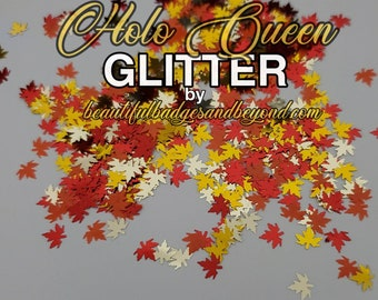 Autumn Fall Leaves Chunky Glitter