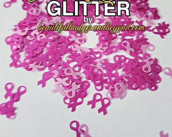 Breast  Cancer Awareness Chunky Glitter