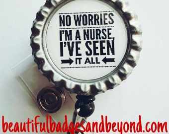 Nurses See it all Retractable Badge Holder