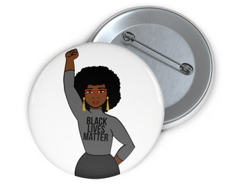 Black Lives Matter Custom Pin Buttons