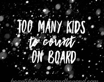 Funny Kids on Board Car Decal