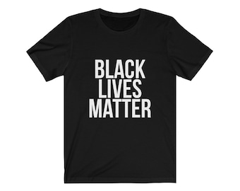 Black Lives Matter Unisex Jersey Short Sleeve Tee