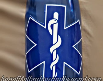 Paramedic  EMT EMS Star of Life  22oz water bottle