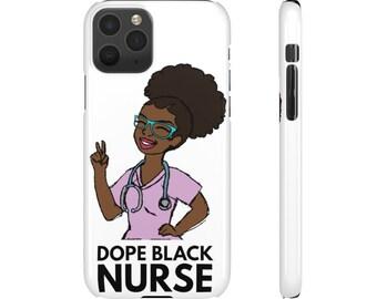 Black African American Nurse Snap Cases
