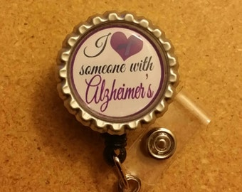 Alzheimers Retractable Name Badge Holder Reel