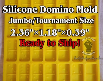 Jumbo Tournament Size Silicone Domino Mold LARGER Than Professional Size