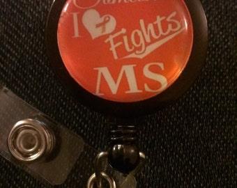 Multiple Sclerosis Retractable Name Badge Holder Reel 2