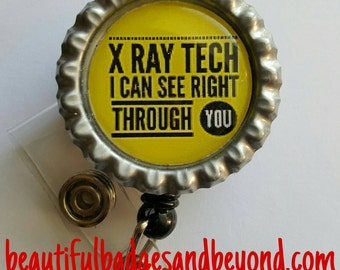 X-Ray Tech Retractable Name Badge Holder Reel