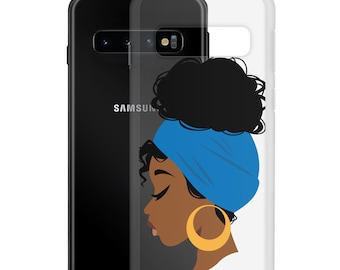 Black African American Woman Natural Hair Samsung Case