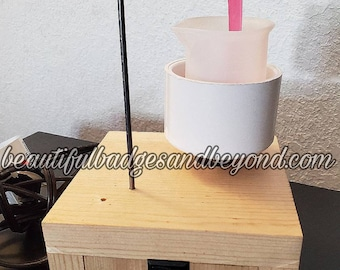 Epoxy Mixer Stirrer with Reusable Silicone Mixing Cup and Spoon