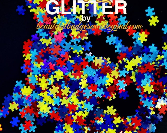 Featured listing image: Autism Awareness Chunky Glitter