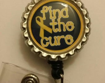 Cure Childhood Cancer Awareness Retractable Name Badge Holder Reel