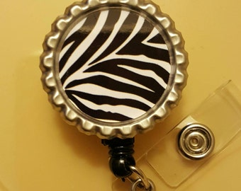 Zebra Retractable Name Badge Holder Reel