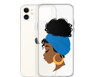 Black African American Natural Hair iPhone Case