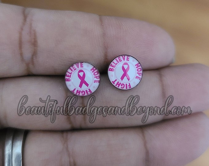 Featured listing image: Breast Cancer Awareness  Earrings
