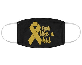Childhood Cancer Awareness Ribbon Fabric Face Mask