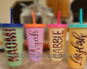 Color Changing Tumbler 24oz Personalized with Name