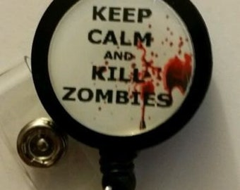 Zombie Retractable Badge Holder