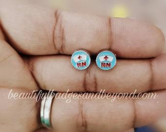 Nurse RN Hat Earrings