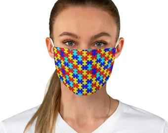 Autism Awareness Puzzle Fabric Face Mask