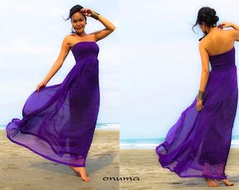 Eggplant Dress Chiffon M R