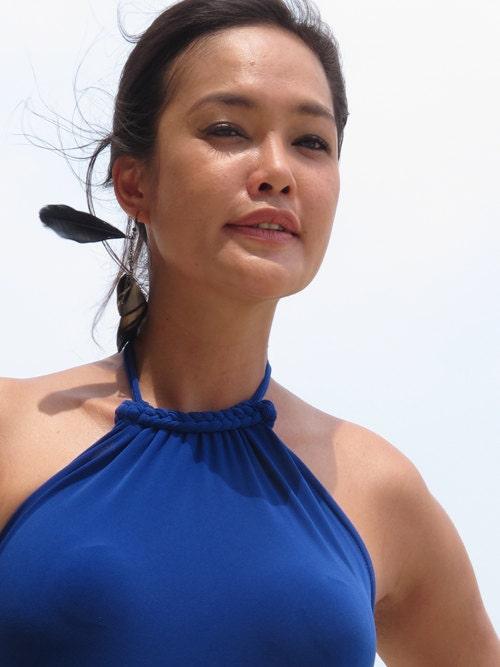 Royal Blue Dress,beach dress,Halter Dress,open backless Dress, long dress,maxi dress sun evening