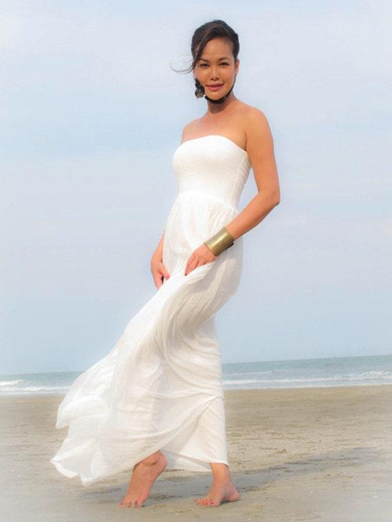 White Dress Bridesmaid Dresswhite Wedding Dressmaternity Etsy