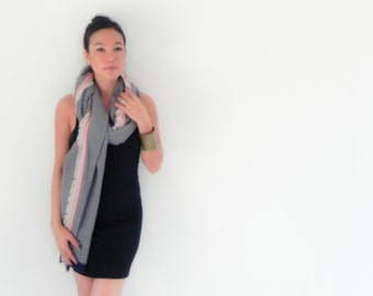 Onuma scarves gray pink    Winter  scarf