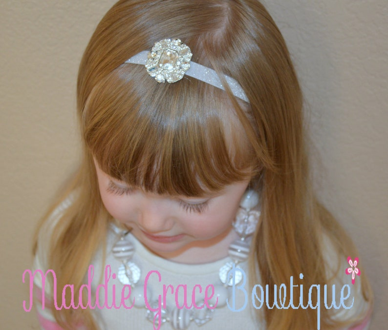BABY GIRL//CHILD  DAINTY RED AND WHITE BUTTERFLY GEM HEADBAND ALL SIZE