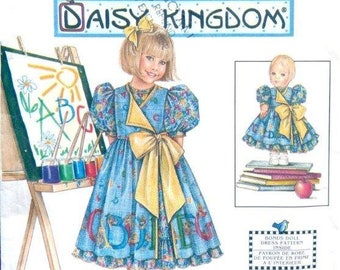 "UNCUT 7768 Simplicity Pattern  DAISY KINGDOM, Girl's Dress, Pinafore & Bonus 17"" Doll Dress Pattern,  Size 3,4,5,6"