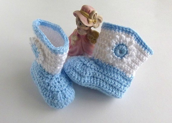 Baby Cowboy Boots Crochet Stars Or Flowers With Free Spur Etsy