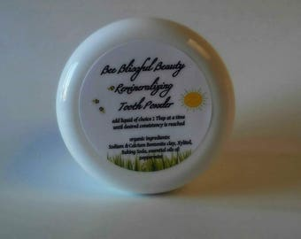 TOOTH POWDER,  Fluoride Free Natural Toothpaste, NEW Orange Clove Flavor, Remineralizing, Natural Dental Care, Clay Tooth Paste, Vegan