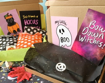 Halloween Mystery Box, Spooky Lucky Dip Box, Witches Grab Bag