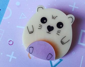 Hamster Brooch, Hamster Jewellery, Animal Brooch, Hamster Gift, Animal Jewellery, Cute Gifts, Cute Animals, Acrylic Brooch, Hamster Pin, Pin