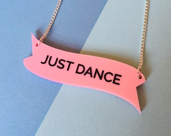 Just Dance, Dance Quote, Dance Gifts, Dance Teacher Gifts, Dance Necklace, Friendship Necklace, Festival Trends, Quote Necklace, Summer