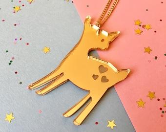 Deer Necklace - Bambi Necklace - Baby Reindeer Necklace - Christmas Necklace - Woodland Necklace - Deer Jewellery - Christmas Gift - Deer