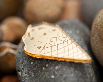 Ice Cream Necklace - Ice Cream Pendant - Ice Lolly Necklace - Ice Cream Party - Food Jewellery - Beach Necklace - Made in Brighton