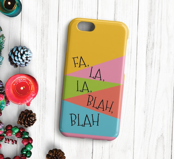 Christmas Phone Case Iphone 7.Christmas Phone Case Iphone Case Stocking Filler Iphone 7 Rainbow Case Iphone 6 Iphone X Fa La La Iphone 5 Iphone Se Gift For Her