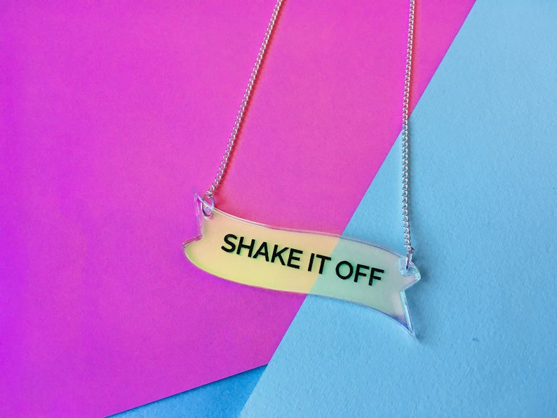 Shake It Off Quote Necklace Motivation Gifts Keep Going image 0