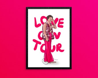 Love on Tour Poster, Harry Styles Print