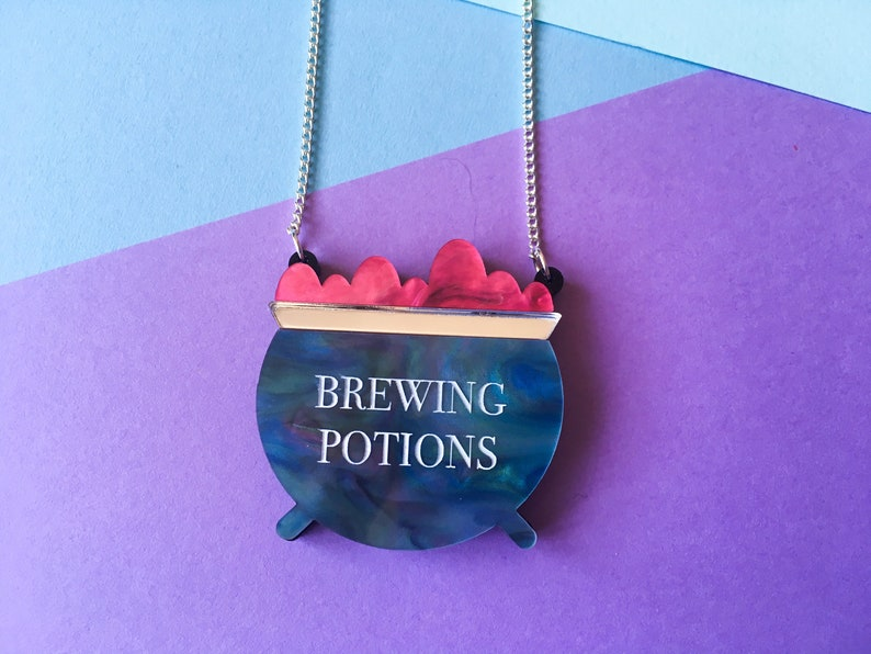 Brewing Potions Necklace Halloween Jewellery Witchcraft image 0