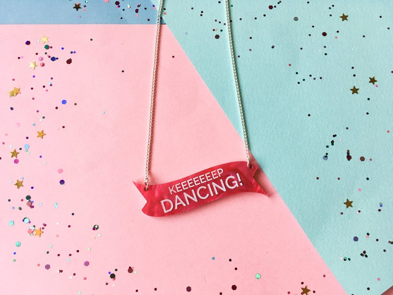 Keep Dancing Dance Gifts Dance Necklace Friendship image 0