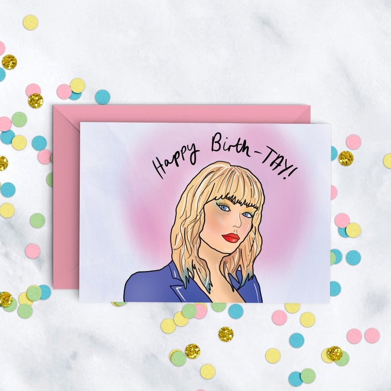 Happy Birth-TAY Taylor Swift Birthday Card image 0