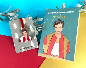 Harry Styles Christmas Gift Set, Card & Tree Decoration