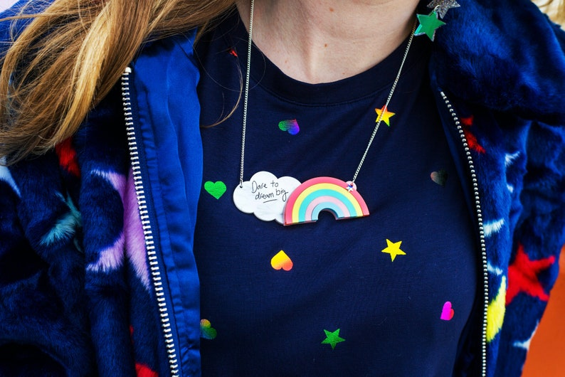 Dare to Dream Big Rainbow Necklace Daydreamer Jewellery image 0