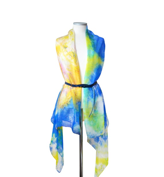 SCARF//SARONG BEACHWEAR SUPER SOFT ABSTRACT MULTI COLOURS DESIGN