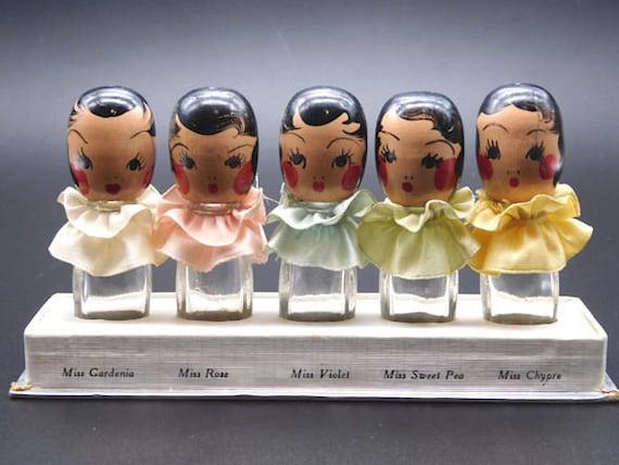 Vintage 1930s Dionne Quintuplets Floral Perfume Bo