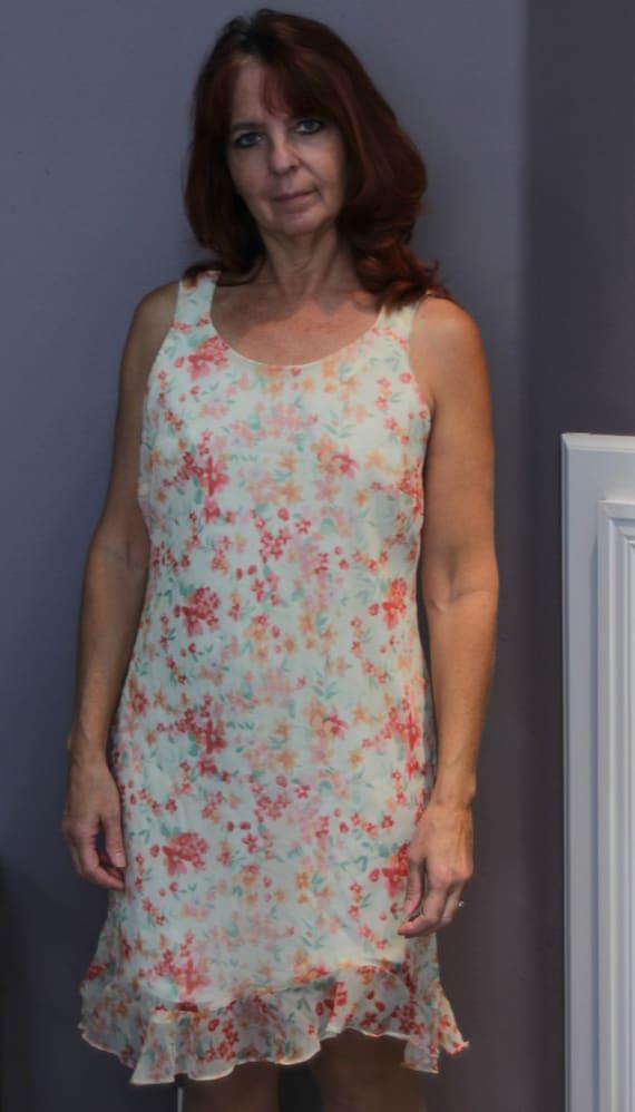 Vintage Slip Dress/Floral Midi Dress/Liz Claiborn… - image 1