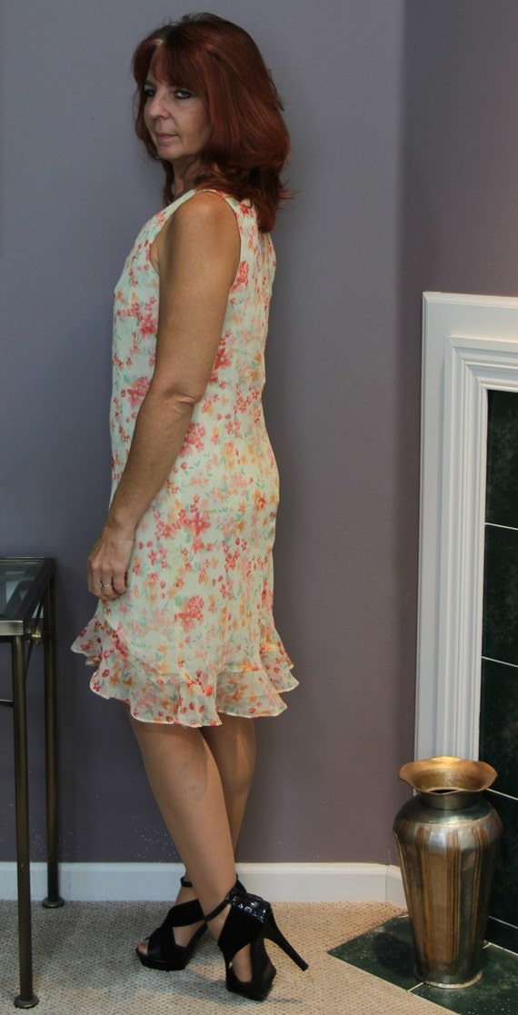 Vintage Slip Dress/Floral Midi Dress/Liz Claiborn… - image 3