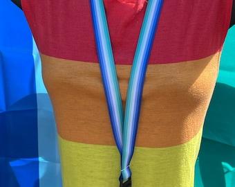 Gay Man Pride Lanyard Badge Holder